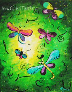 Dragonfly by Christi Tims Art
