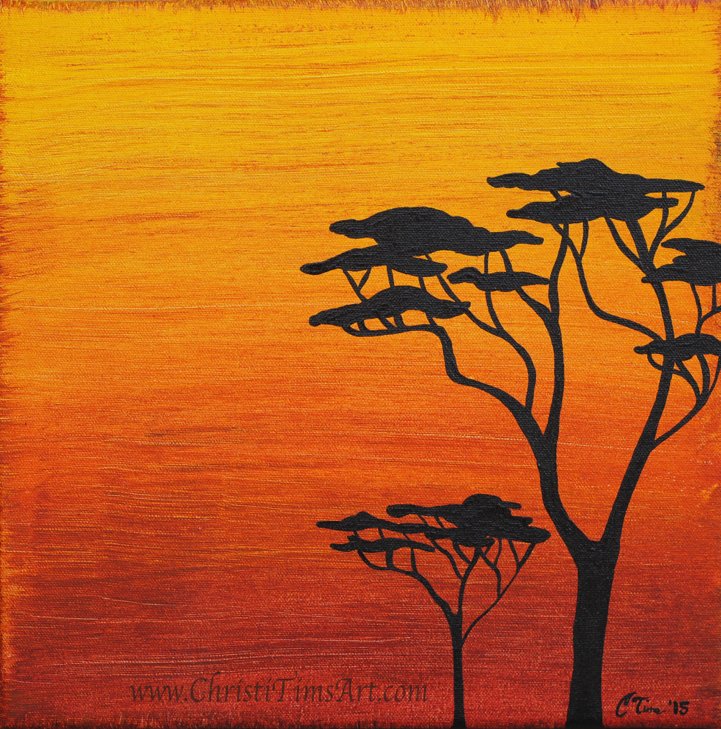 Safari Trees Christi Tims Art