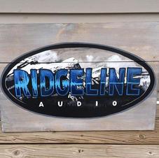 Ridgeline Audio wood sign