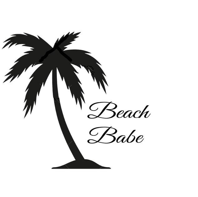 Beach Babe vinyl design