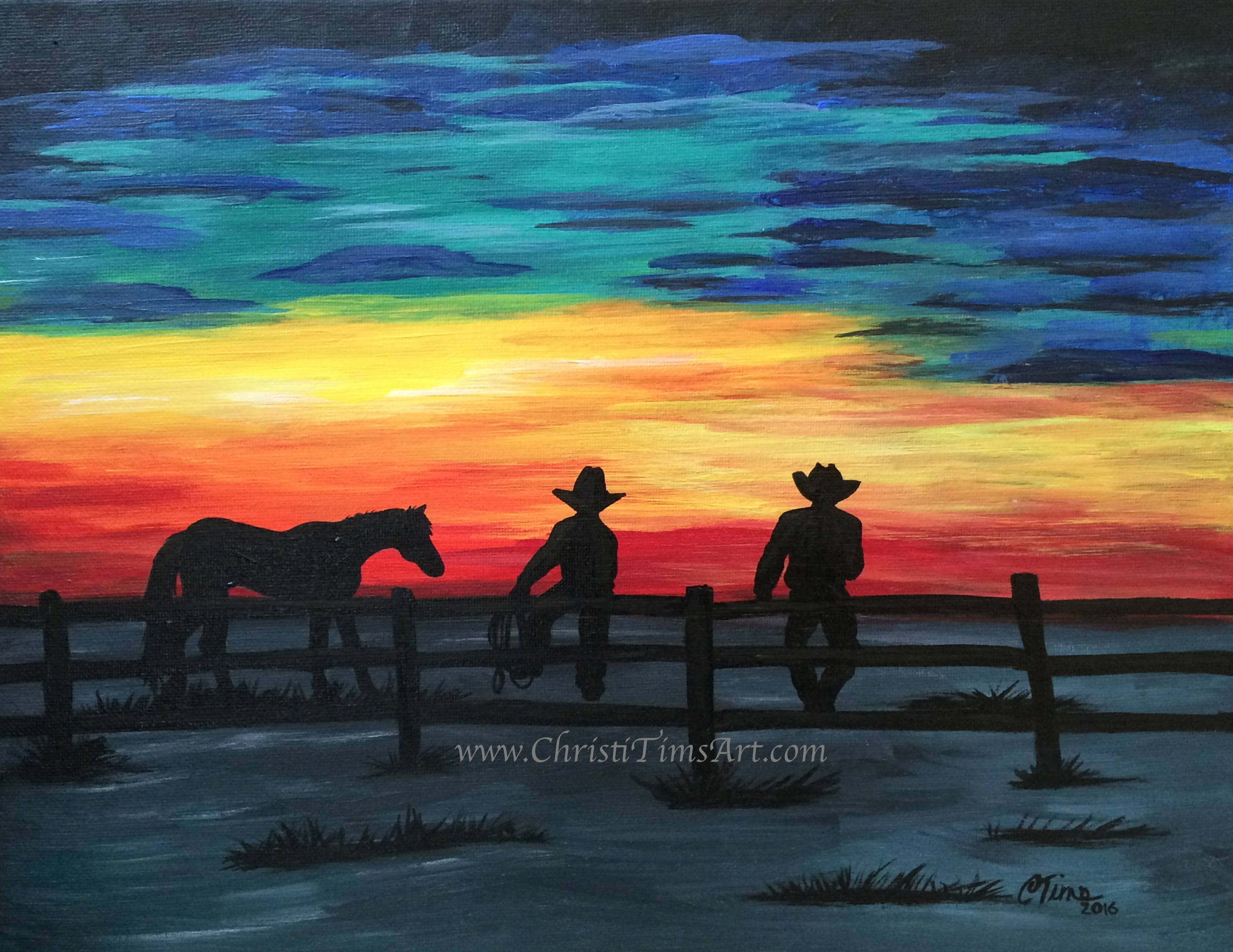Alberta Sunset Christi Tims Art