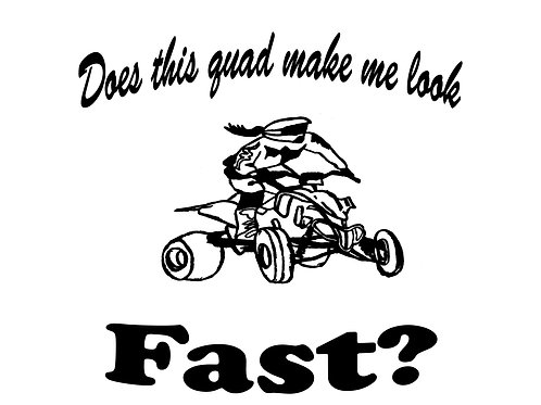 "T-shirt print... ""Does this Make me fast"""