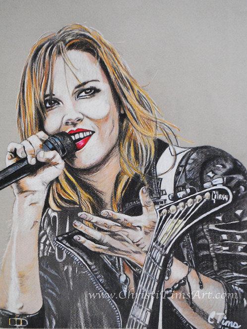"""Lzzy Hale Portrait 11x14"""" Paper"""
