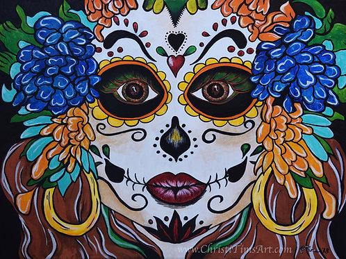 Tropical Sugar Skull