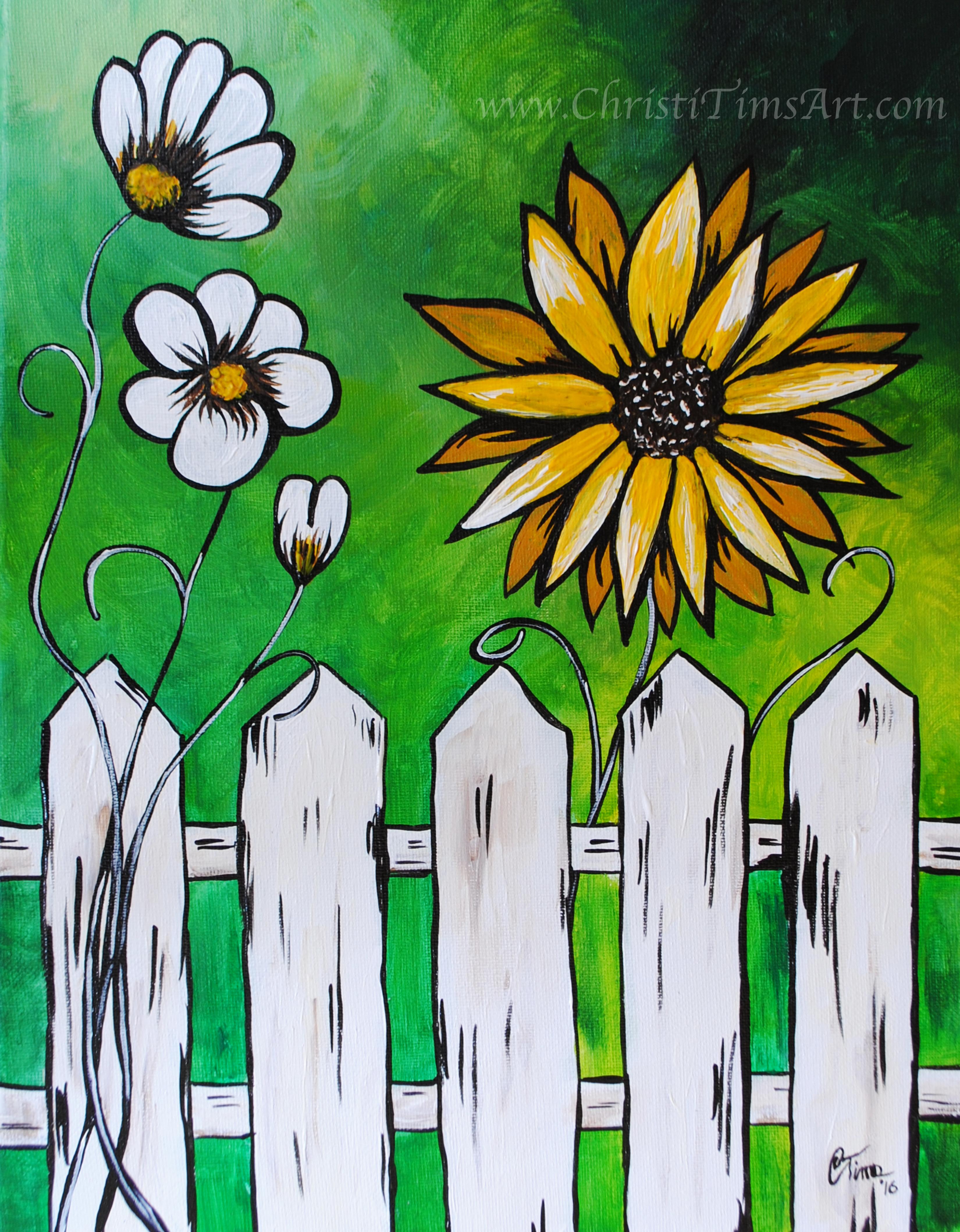 Springtime Fence & Flowers Christi T