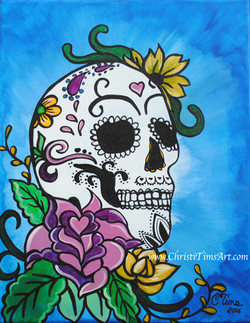Sugar Skull Christi Tims Art