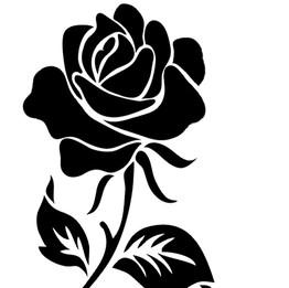 Rose vinyl design