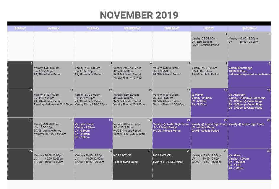 Practice Schedule Nov 2019.JPG
