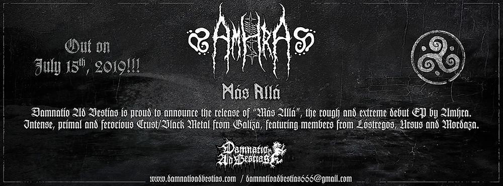 """Amhra """"Más Allá""""... out on July 15th, 2019!"""