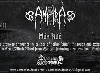 "AMHRA ""Más Allá""... out on July 15th, 2019!"