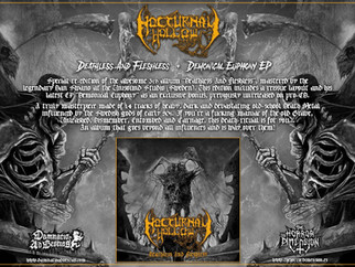"NOCTURNAL HOLLOW ""Deathless And Fleshless + Demonical Euphony"" (DAB 008)"