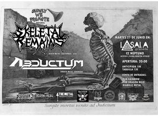 Skeletal Remains + Abductum. June 21, Granada (Spain)