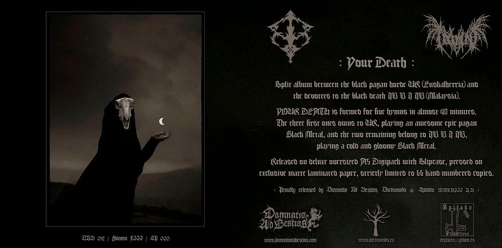 """UR / IV V I IV """"Your Death"""", flyer"""