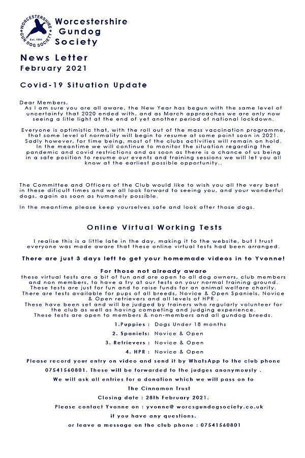 February 2021 News Covid 19 FB Statement