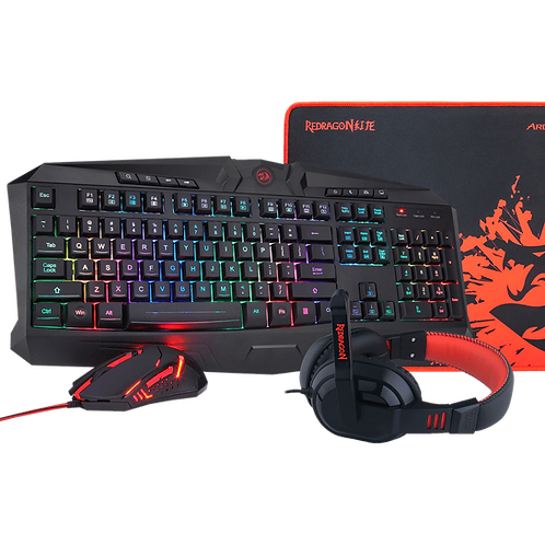 Combo Gamer RGB Redragon S101 Teclado - Mouse - Dieadema - Pad mouse
