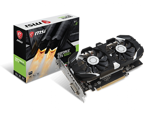 Tarjeta de video MSI Nvidia Geforce GTX 1050TI 4GB DDR5 2 FAN