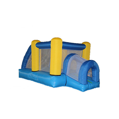 blue bounce house