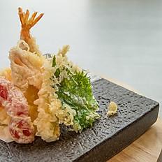 Assorted tempura platter