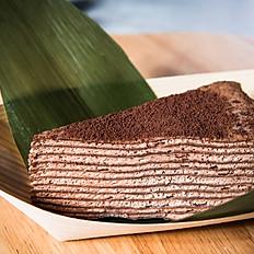 Fresh chocolate crepe cake