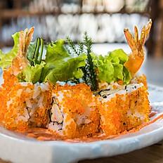 Cheesy prawn tempura