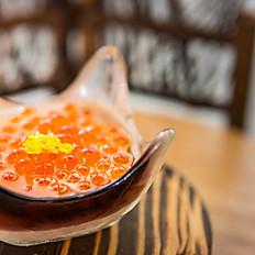 Chawanmushi with salmon roe
