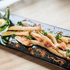 Grilled stingray fins