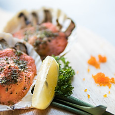 Grilled mentai scallops