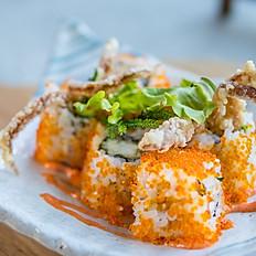 Cheesy soft shell crab roll