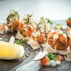 Salmon tofu balls