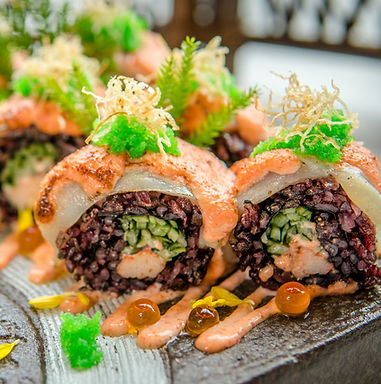 Purple rice maki