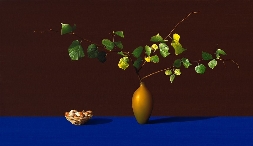 Branch and Nuts, Painting by Roberto Azank
