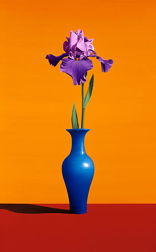 Still Life with Iris, Painting by Roberto Azank