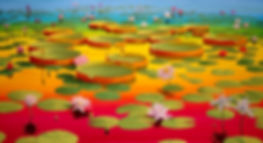 Lotus Painting #4, in Afternoon Light, by Roberto Azank