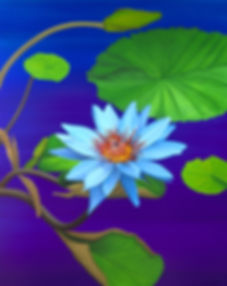 Lotus Flower Painting, by Roberto Azank