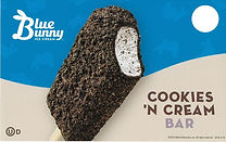 Blue Bunny Cookies and Cream Bar