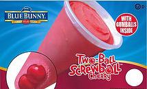Blue Bunny Cherry Two Ball Screwball
