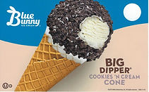 Blue Bunny Cookies and Cream Dipper