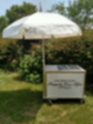 Nelson wedding ice cream cart