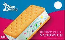 Blue Bunny Birthday Party Sandwich
