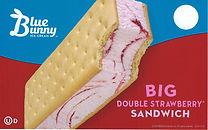 Blue Bunny Big Double Strawberry Sandwich
