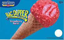 Blue Bunny Strawberry Dipper