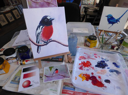 Robin Redbreast Painting