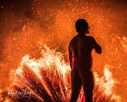 「勝部の火祭り」