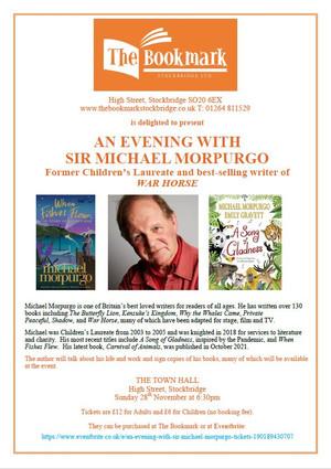 An Evening with Sir Michael Morpurgo 28th November 2021