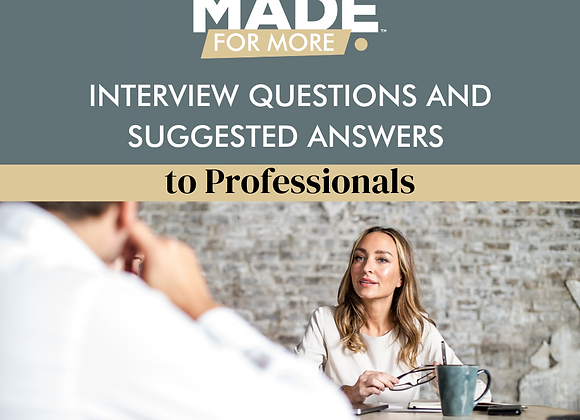 Interview Questions and Suggested Answers to Professionals