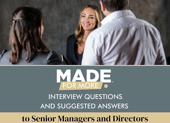 Interview questions and Answers to Senior Managers and Directors