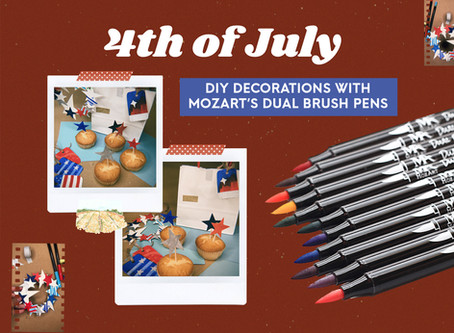 4th of July DIY Decorations with MozArt's Brush Pens