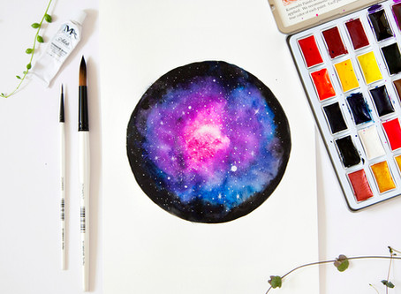 Watercolor Galaxy with Becky Starsmore