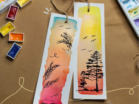 DIY Watercolor Bookmark 🎨