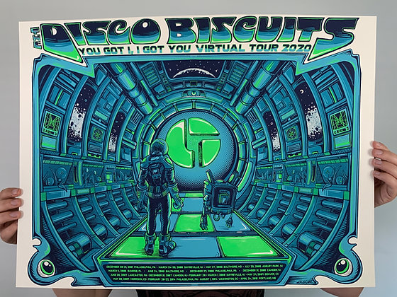 The Disco Biscuits Poster WHITE